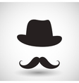hipster mustache vector image vector image