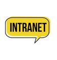 intranet speech bubble vector image