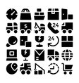 Logistics delivery Icons 7 vector image vector image