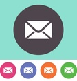 Mail envelope icon vector image
