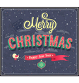merry christmas typographic design vector image vector image