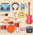 Musical instruments Flat design vector image vector image