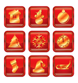 New Year Xmas Icon set vector image