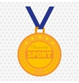 olimpic medal design vector image vector image