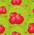Pattern with apples vector image vector image