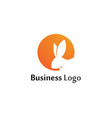 rabbit logo template icon design template app vector image