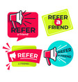 refer friend isolated icons share media vector image vector image
