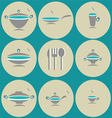 seamless background with kitchen accessories vector image