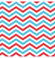 seamless chevron pattern in blue red and white vector image vector image