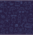 seamless pattern night sky for baby vector image vector image