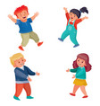 set children boys and girls they dance and have vector image vector image
