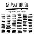 set of grunge brush vector image vector image