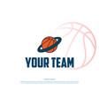simple minimalist basket ball planet vector image