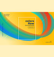 stylish colors flow abstract banner design vector image