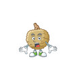 surprised fresh marolo fruit character mascot in vector image vector image