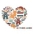 symbols netherlands in shape a vector image vector image