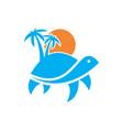 turtle island logo icon concept design vector image vector image