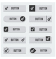 user interface buttons design set vector image