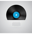 Vinyl Record Disc Isolated on Grey Background vector image vector image