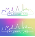 washington skyline colorful linear style vector image vector image