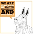 We are generation of idiots vector image