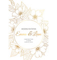 wedding invitation card wild rose cherry sakura vector image vector image