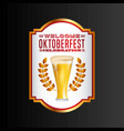 welcome oktoberfest poster icon vector image
