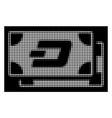 white halftone dash banknotes icon vector image