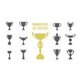 winner cup set 1 vector image
