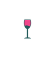 Alcohol glass Icon vector image