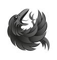 black crow gothic vector image