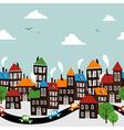 Christmas town seamless cartoon pattern vector image