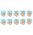 doodle hand number sign icons vector image