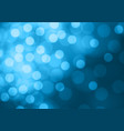 abstract bokeh light on soft blue background vector image vector image