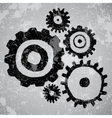 Abstract grunge background with gears vector image vector image