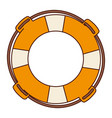 aged flotation hoop with rope vector image vector image