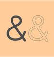 ampersand dark grey set icon vector image vector image