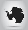 antarctica map black icon on white background vector image