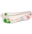 ballet shoes vintage vector image vector image