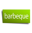 barbeque green paper sign on white background vector image vector image