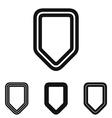 Black line shield logo design set vector image vector image