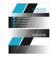 black shining business card design vector image vector image