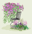 Blooming paradise vector image