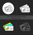 branded business card dark theme icon vector image vector image