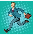 Businessman running man vector image vector image