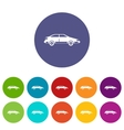 Car set icons vector image