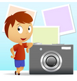 cartoon photographe vector image