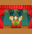children choir performing on stage vector image vector image