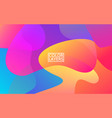 colorful shapes trendy abstract background vector image vector image