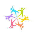 dance circle geometrical form symbol design vector image